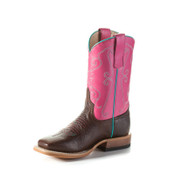 Anderson Bean Kids Cowboy Boots - Vamp Cocoa Puff - Strawberry Shortcake Leather - K7901