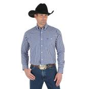 Men's George Strait Long Sleeve Button Down Plaid Shirt - MGSB295
