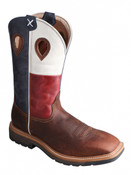 Twisted X TX Flag Work Boot Square Toe  - MLCW007