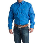 Cinch Mens Solid Long Sleeve Button Down Western Shirt  - MTW1103799