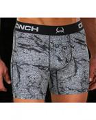 """Cinch Men's Grey Print Athletic 6"""" Boxer Briefs - MXY6002001"""