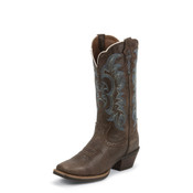 WOMEN'S BROWN KNEADED COW SILVER COLLECTION BOOTS - SVL7316