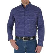 Wrangler Men's Diamond Printed Long Sleeve Shirt - MG2080M