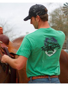 Cinch Men's Green with Black Logo on Left Chest and Back Short Sleeve T-Shirt - MTT1690236