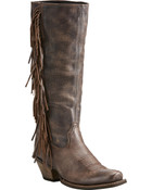 Ariat Women's Brown Leyton Tall Fringe Boots - Square Toe - 10021641