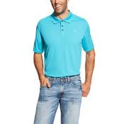 Ariat Men's Perfect Turquoise Heat Series Tek Polo Shirt - 10019088