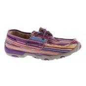 Twisted X Ladies' Driving Mocs Purple Canvas Shoe - WDM0047
