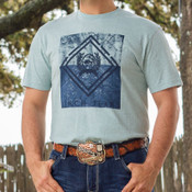 Men's Light Blue Jersey Tee by Cinch - MTT1690238