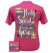 HOLY SPIRIT RETRO HEATHER PINK SHORT SLEEVE - HOLY SPIRIT