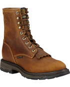 "Ariat Men's Workhog 8"" Lace-Up Work Boots - Composite Toe - 10016267"