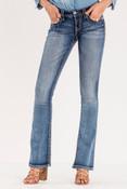 Cut It Close Mid-Rise Boot Cut Jeans - M9055B2