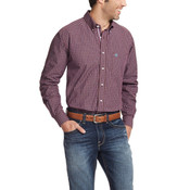 Ariat Pro Series Men's Ripe Fig & Wine Purcell Long Sleeve Button Shirt - 10020699