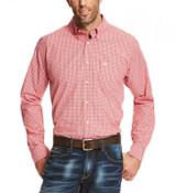 Ariat® Men's L/S Rawson Red Plaid Performance Button Shirt - 10020708