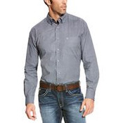 Ariat® Mens' L/S Jetty Grey Print Atmore Button Down Shirt - 10021073