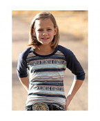 Cruel® Girls' Striped 3/4 Tee - CTK3530006