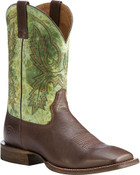 Ariat Men's Dark Brown Circuit Dayworker Western Boots - Square Toe  - 10023137