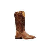 Women's- Boulet_ - Brown with Red Inlay- Square Toe