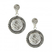 Antiques Drop Concho Earrings  - ER3751