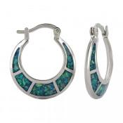 Crescent Opal Hoop Earrings - ER3854