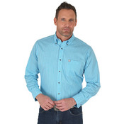 Men's Wrangler Performance Long Sleeve Button Down Print Shirt - MWP103B