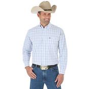 Men's George Strait Long Sleeve Button Down Plaid Shirt - MGSB522