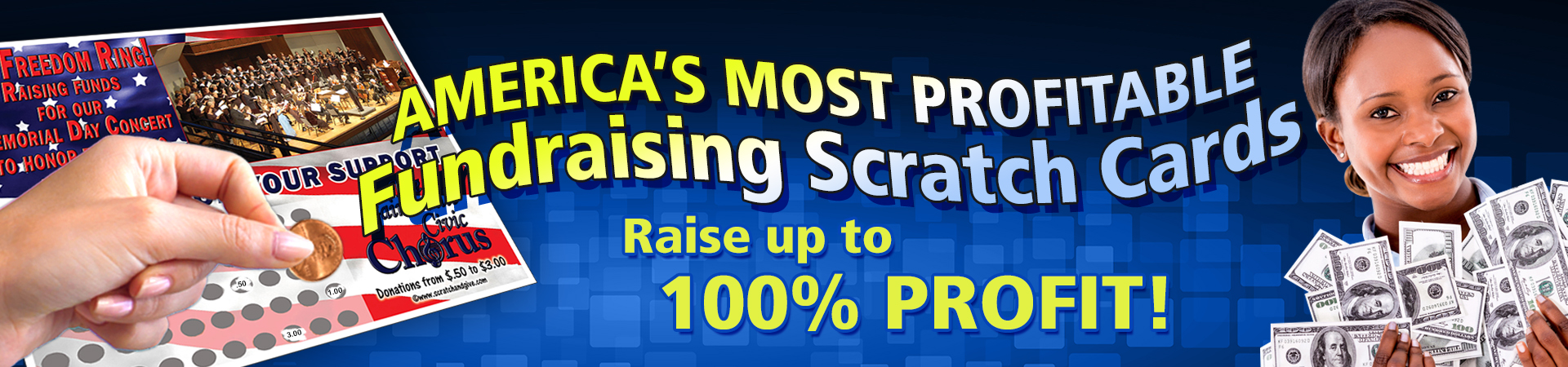Fundraising Scratch off Cards
