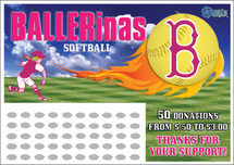Softball Scratch off Fundraiser Card will raise $100-$10,000.  Scratch off Card, Scratch off Fundraiser, Fundraising, Softball Camp, Travel Ball, Softball, Donations, Fundraiser.