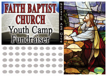 Church Scratch off Fundraiser Card will raise $100-$10,000.  Scratch off Card, Scratch off Fundraiser, Fundraising, Church, Youth Group, Donations, Fundraiser.