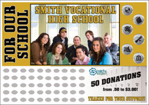 High School Scratch off Fundraiser Card will raise $100-$10,000.  Scratch off Card, Scratch off Fundraiser, Fundraising, School, Sports, High School, Class Fundraiser.