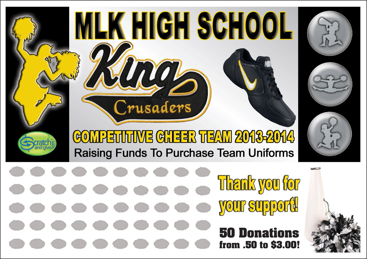 Cheerleading Fundraising Ideas Scratch Off Cards Fundraising