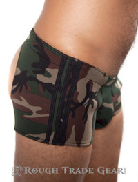 Camo Neoprene Shorts - Rough Trade Gear
