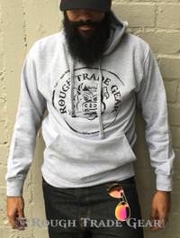 RTG Heather Gray Hoodie - Rough Trade Gear