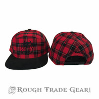 Red Flannel Snapback Cap - Rough Trade Gear