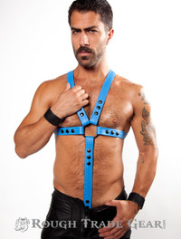 POWER BLUE Fucker Leather Harness - RTG
