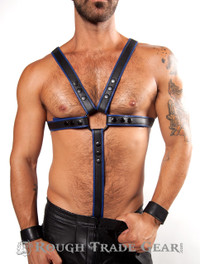 Fucker Deluxe Leather Harness BLUE/BLK - RTG