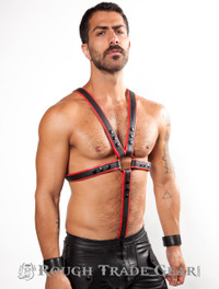 Fucker Deluxe Leather Harness RED/BLK - RTG