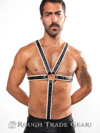 Fucker Deluxe Leather Harness WHITE/BLK - RTG