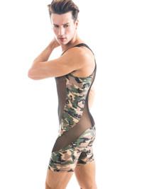 Camo Sheer Singlet - N2N Bodywear