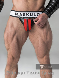 Fetish Detachable Cod Jock Red/Blk - Maskulo