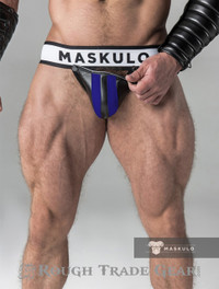 Fetish Detachable Cod Jock Royal/Blk - Maskulo