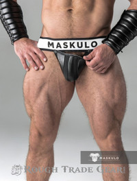 Fetish Detachable Cod Jock Blk/Blk - Maskulo
