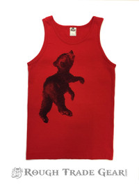 Cub Tank RED with Blue - Rough Trade Gear