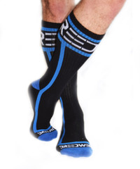 Mid Calf Logo Socks BLUE - Breedwell