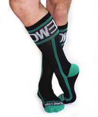 Mid Calf Logo Socks GREEN - Breedwell