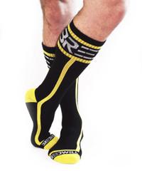 Mid Calf Logo Socks YELLOW - Breedwell