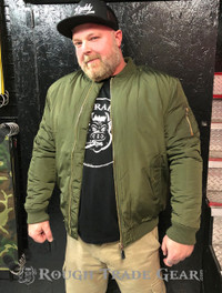 RTG Filled Bomber Jacket (GREEN) - Rough Trade Gear