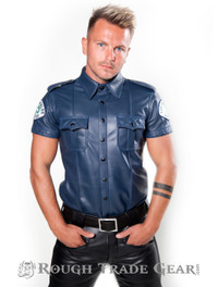Uniform LAPD Quilted  Leather Shirt - Rough Trade Gear