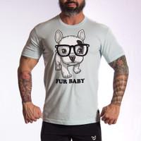 Fur Crew Baby Blue  T-Shirt - Bullywear