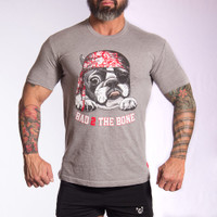 Bad2Bone Crew Grey T-Shirt - Bullywear