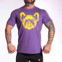 Dog Face 2 Crew PURPLE T-Shirt - Bullywear